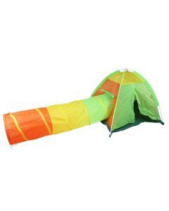 Cort de Joaca pentru Copii tip Iglu cu Tunel 2-in-1 Multicolor