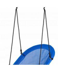 Leagan Balansoar rotund tip barca pentru curte, gradina sau terasa, capacitate maxima 150kg, dimensiune 60x100cm, culoare albastru