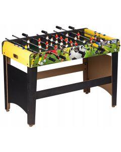 Masa Joc de Mini Fotbal Foosball din Lemn, 18 Fotbalisti, 8 Tije, Dimensiuni 120x60cm, Multicolor