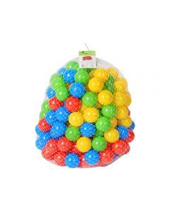 Set 200 bile colorate pentru joaca sau piscine copii, multicolore, diametru bila 6cm