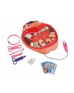 Set joc pentru micii dentisti cu accesorii si carduri sarcini, dimensiuni 25x23.5 cm