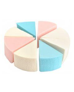 Set 8 bureti multicolori pentru aplicare machiaj Make-Up Sponge
