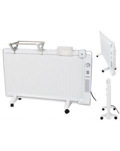 Panou Radiator Mobil tip Calorifer Electric cu Ulei, Putere 2000W, 3 trepte de Incalzire, Termostat Reglabil