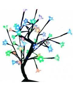 Arbore cu Lumini pentru Craciun Tip Bonsai Ornamental cu 48 Becuri LED Multicolor, Inaltime 43cm