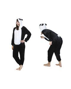 Costum Urs Panda cu gluga pentru carnaval sau petreceri, marime XL, culoare Alb – Negru