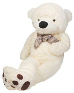 Ursulet de Plus Urias XL, Inaltime 100cm, Culoare Crem