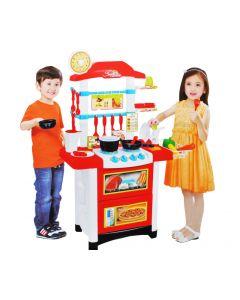 Set bucatarie multifunctionala cu efecte sonore pentru copii + accesorii pentru gatit si meniu