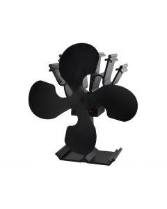 Ventilator Mecanic din Aluminiu pentru Semineu sau Soba, Disperseaza Caldura in Incapere