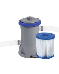 Pompa Recirculare cu Filtru Bestway pentru Filtrare Apa Piscina, Debit 2006 L/H