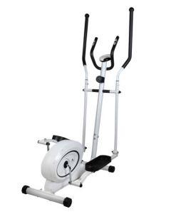 Bicicleta eliptica magnetica antrenament fitness cu afisaj LCD, capacitate 110kg, culoare Alb