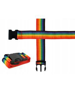 Curea exterioara ajustabila pentru protectie bagaje, valize calatorii, multicolora, lungime 175cm