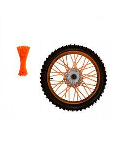 Set ornamente tuburi colorate pentru spite, 80 bucati, lungime 30 cm, culoare Portocaliu