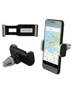Suport auto universal pentru telefon cu prindere in grila, capat rotativ 360°