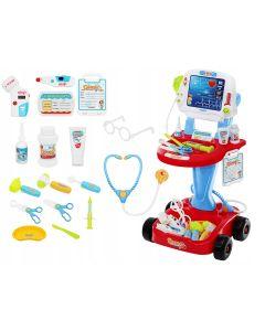 Set mobil EKG pentru micii doctori + 18 accesorii medicale de jucarie