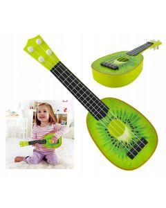Chitara pentru copii tip fruct Kiwi, culoare Verde
