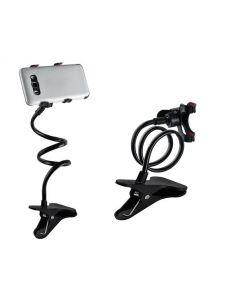 Suport Telefon Flexibil cu capat rotativ si clema prindere, lungime 72cm, culoare Negru