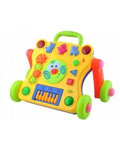 Jucarie interactiva mobila de tras sau impins pentru copii cu taste melodii si iluminat