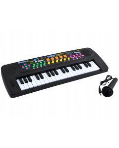 Set Orga Electronica pentru Copii cu 37 Clape, Microfon si Radio, Culoare Negru