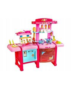 Set bucatarie XXL cu frigider, fructe, legume si alte mini-produse alimentare pentru copii