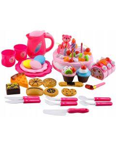 Set pentru copii cu tort, fursecuri si accesorii pentru sarbatorit aniversari sau petreceri