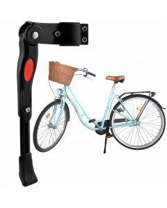 "Cric pentru Bicicleta cu Prindere Laterala, Reglabil, Compatibil Cadru 24-29"", Culoare Negru"