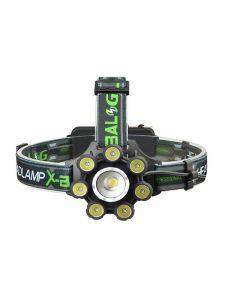 Lanterna frontala X-Balog 8 LED cu zoom, bluetooth, difuzor si unghi iluminare reglabil