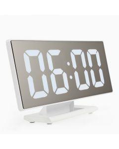 Ceas digital LED tip oglinda cu afisaj calendar, alarma, temperatura + cablu USB alimentare