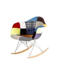 Scaun Modern tip Balansoar, Tapitat, Multicolor pentru Living, Salon sau Dormitor