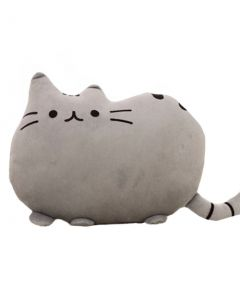 Perna Pusheen Cat tip Pisica pentru Copii, Dimensiune 30x40cm, Culoare Gri