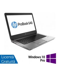 Laptop Reconditionat HP ProBook 640 G1 Intel Core i5-4200M 2.50GHz up to 3.10GHz 4GB DDR3 500GB SATA Webcam 14 inch + Windows 10 Pro