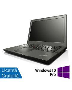 Laptop Reconditionat Lenovo Thinkpad x240 Intel Core i5-4300U 1.90GHz up to 2.90GHz 8GB DDR3 120GB SSD 12 Inch + Windows 10 Pro
