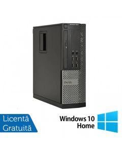 Calculator Reconditionat Dell OptiPlex 9010 SFF Intel Core i3-3220 3.30GHz 4GB DDR3 250GB SATA DVD-ROM + Windows 10 Home