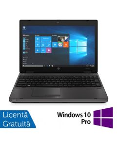 Laptop Reconditionat HP ProBook 6570b Intel Core i3-3120M 2.50GHz 4GB DDR3 120GB SATA DVD-RW 15.6 inch LED Webcam Tastatura numerica + Windows 10 Pro