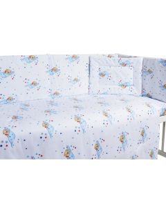 Lenjerie patut cu 5 piese Sleeping Bear Blue