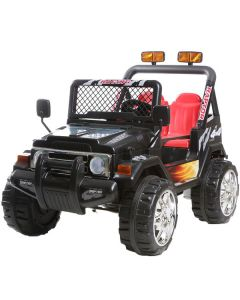 Masinuta electrica cu roti din cauciuc Drifter Jeep 4x4 Negru