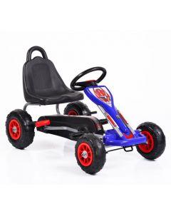 Kart cu pedale cu roti gonflabile Falcon Blue