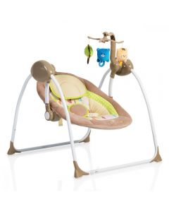 Leagan electric cu conectare la priza Baby Swing+ Cappucino