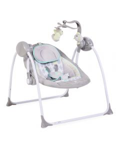 Leagan electric cu conectare la priza Baby Swing+ Grey