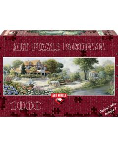 Puzzle 1000 piese - Panoramic English Cottage-PETER MOTZ