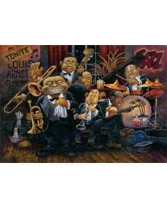 Puzzle 1500 piese - Louis Armstrong And His Orchestra-BILL BELL