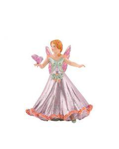 Figurina Papo-Spiridus roz cu fluturas