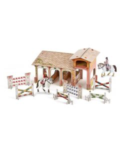Set figurine Papo - Poney club-boxa carton+4 figurine