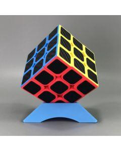 Cub Rubik 3x3x3 - KungFu LongYua, Stickere Fibra De Carbon, 50CUB