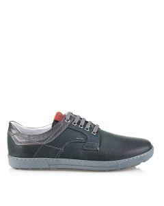 Pantofi din piele naturala pentru barbati, G-117 blue, negru