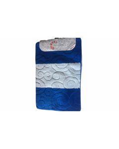 Covorase de baie, Albastru 60x100cm