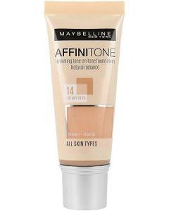 Fond de ten Affinitone Maybelline New York, 14 Creamy Beige, 30ml