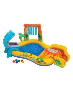 Centru de joaca cu piscina Intex Dino 249x191x109 cm