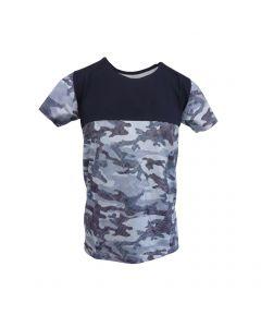 Tricou Scarface - albastru cu model de camuflaj - S