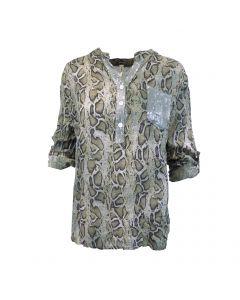Bluza Univers Fashion - verde cu imprimeu piele de sarpe - L-XL