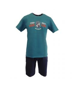 Pijama barbat, Univers Fashion - bluza verde cu imprimeu 'Man of the match